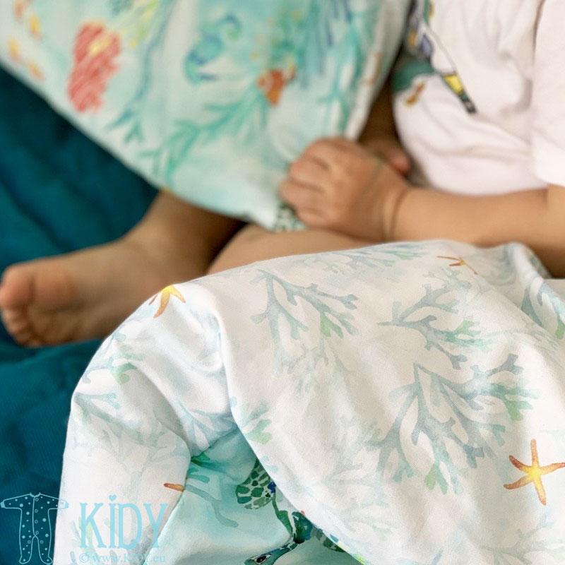 Patalynės komplektas Ocean: antklodė + pagalvė