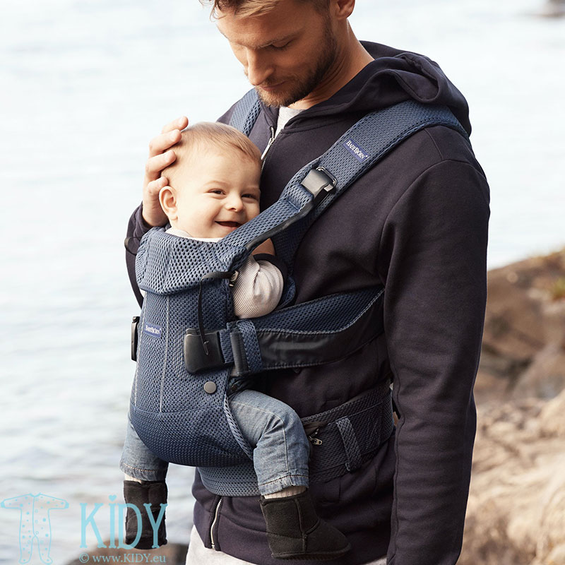 Baby carrier One Air Navy Blue + teething bib