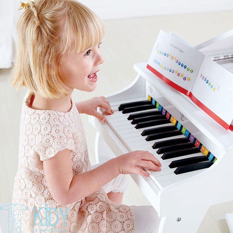 White Deluxe Grand Piano