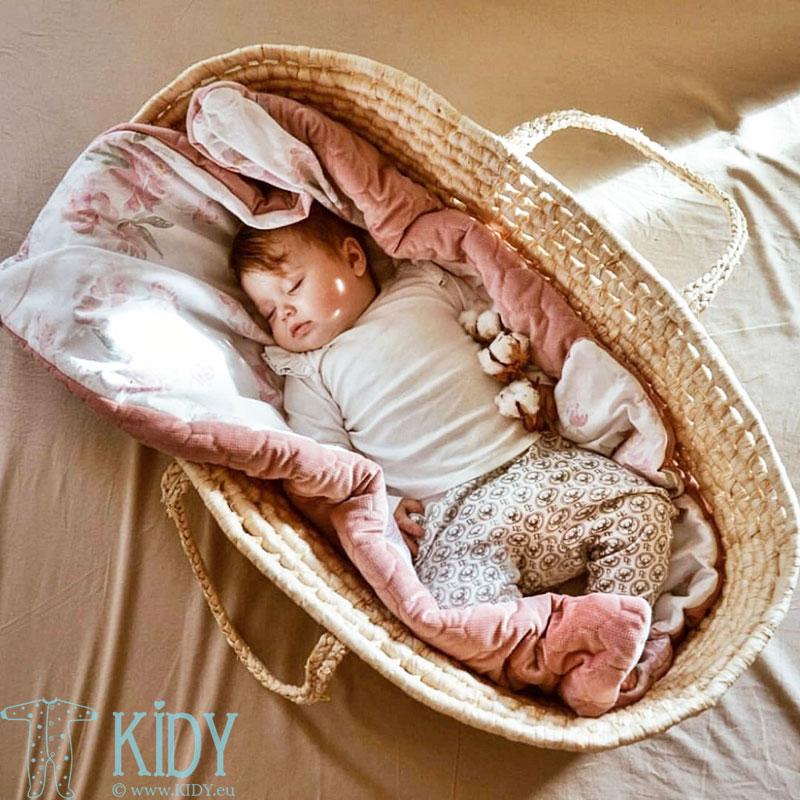 Rožinė antklodė Peonie
