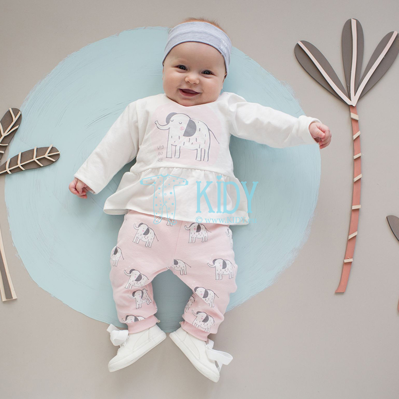 Grey WILD ANIMALS headband