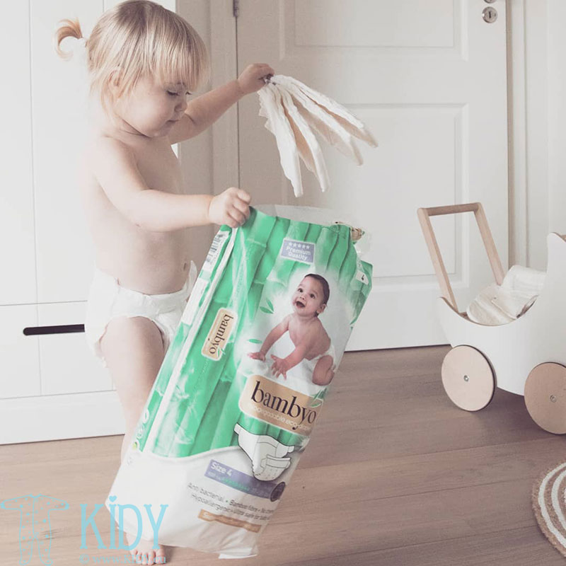 Bamboo BAMBYO №4 eco diapers for babies