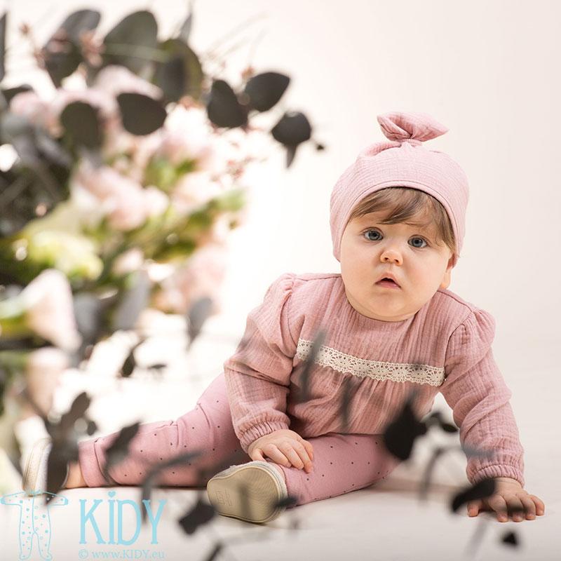 Розовая муслиновая блузка PETIT LOU