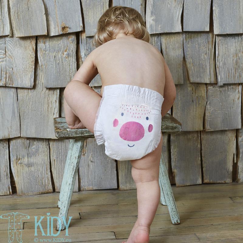 Детские эко подгузники-трусики COW & PIG №5
