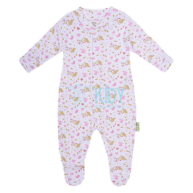 9 pcs pink ORGANIC layette for newborn girls