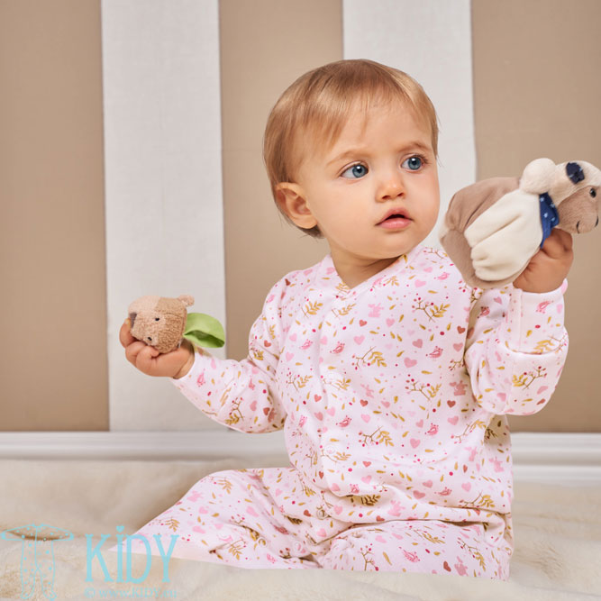 Pink ORGANIC footed sleepsuit