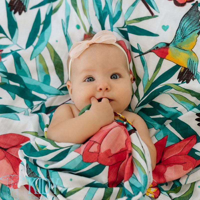 Муслиновая бамбуковая пеленка FLOWERY GRACE