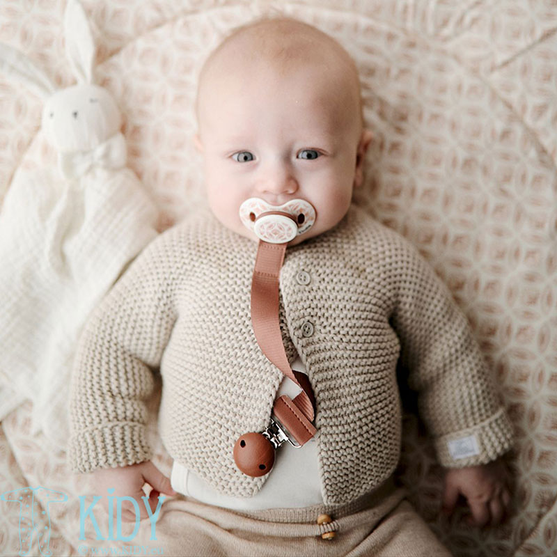 Burned Clay Pacifier Clip