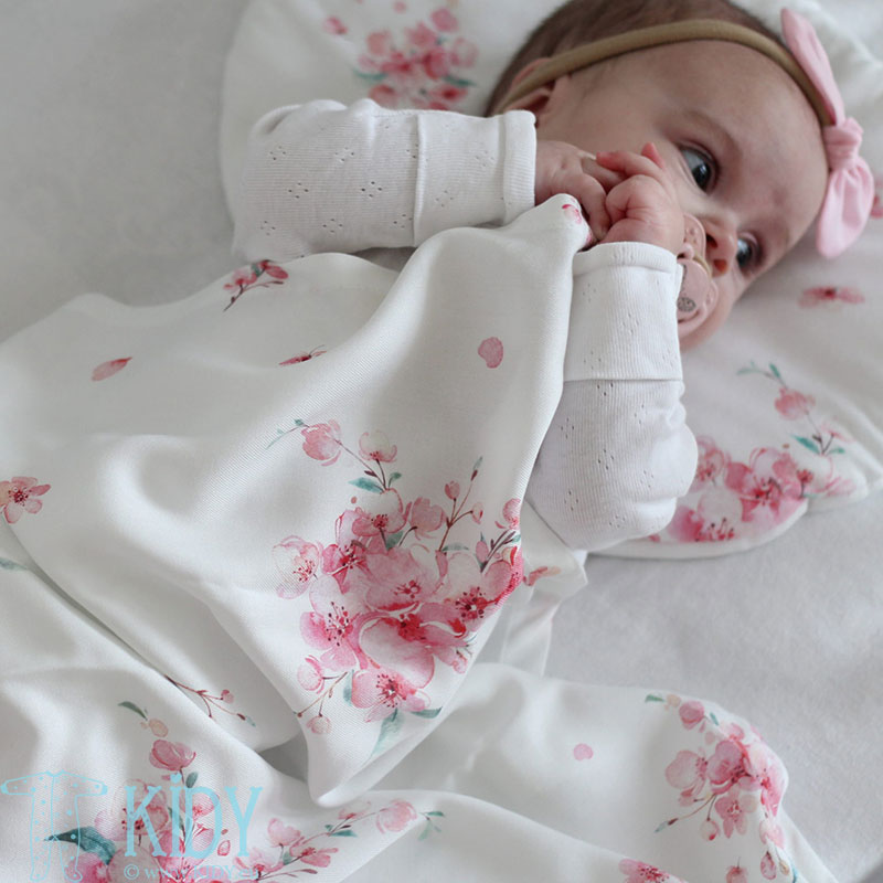 Bamboo Japanese Flowers swaddle