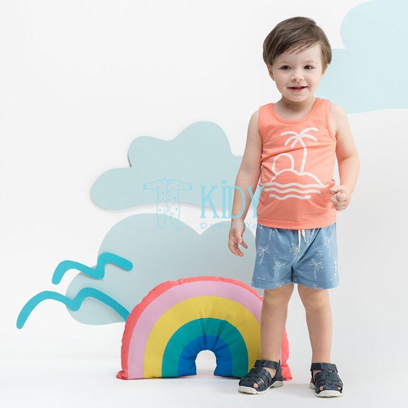 Lašišos spalvos marškinėliai SUN & FUN be rankovių