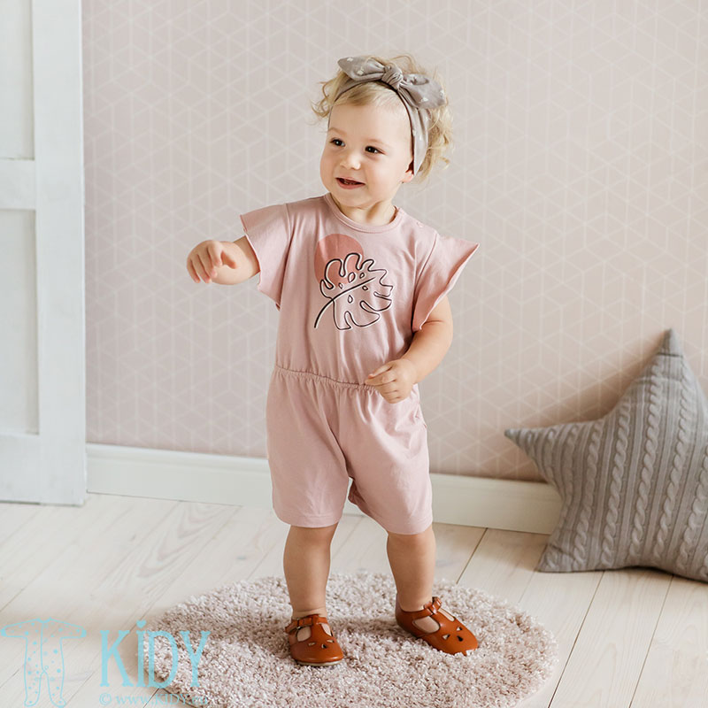 Pink TINY FLOWERS romper