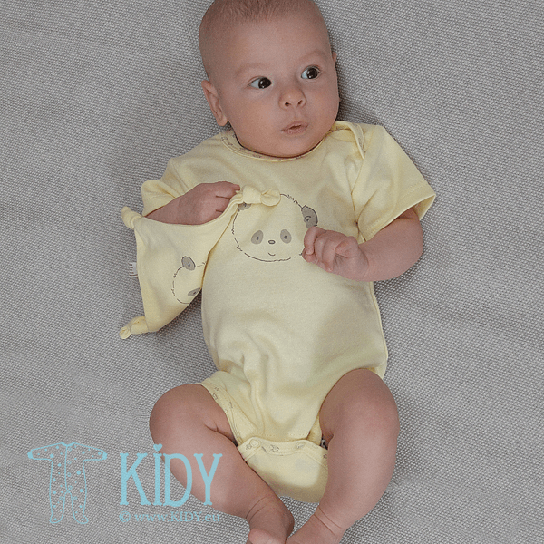 Yellow PEPPER  short sleeve bodysuit for baby