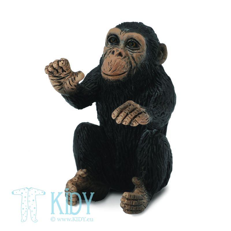 Jauniklis apsikabinęs šimpanzės