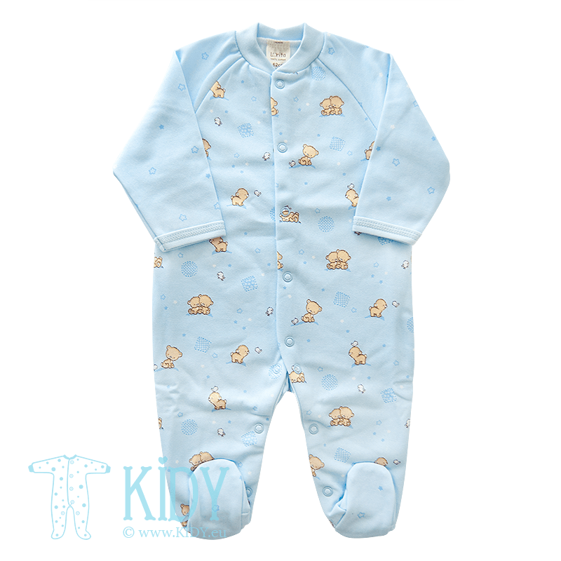 Žydras kombinezonas-pižama POPSI