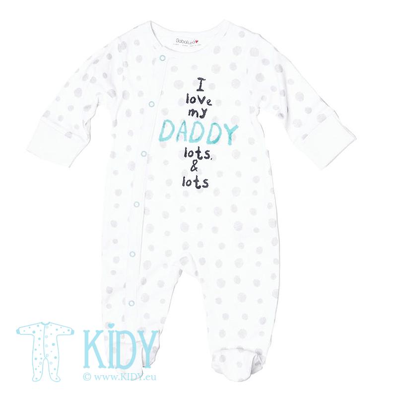 Baltas kombinezonas-pižama ZEBRA su pirštinėlėmis
