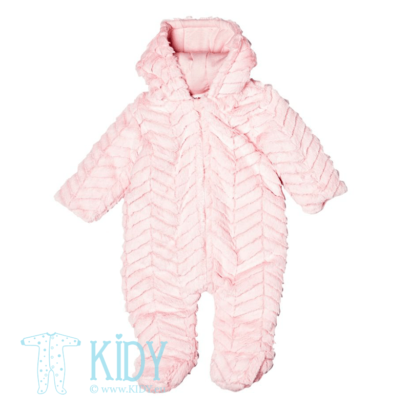 Baby pink snowsuit HOME