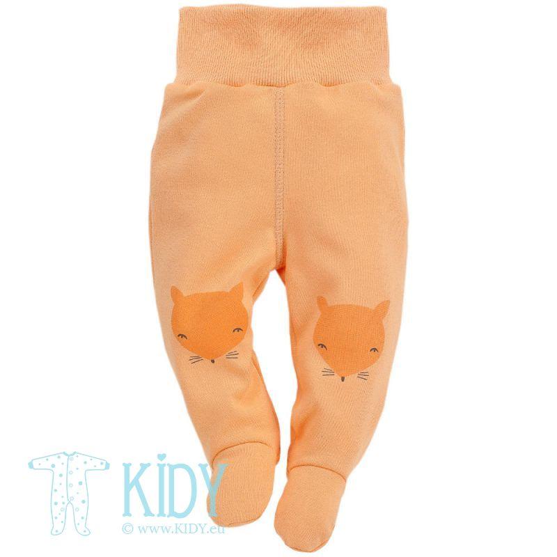Oranžinės kelnytės SMART FOX su pėdutėmis