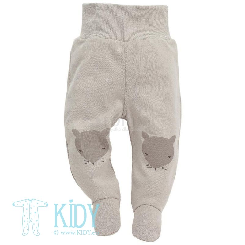 Beige footed SMART FOX pants