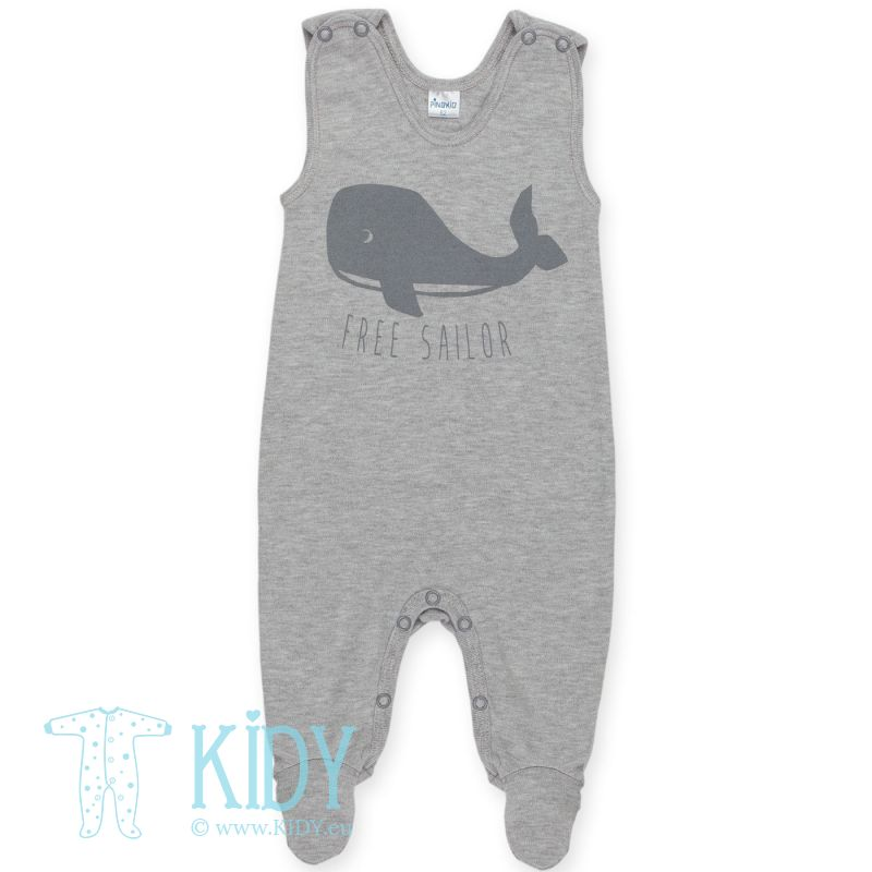 Grey footed HAPPY KIDS dungaree
