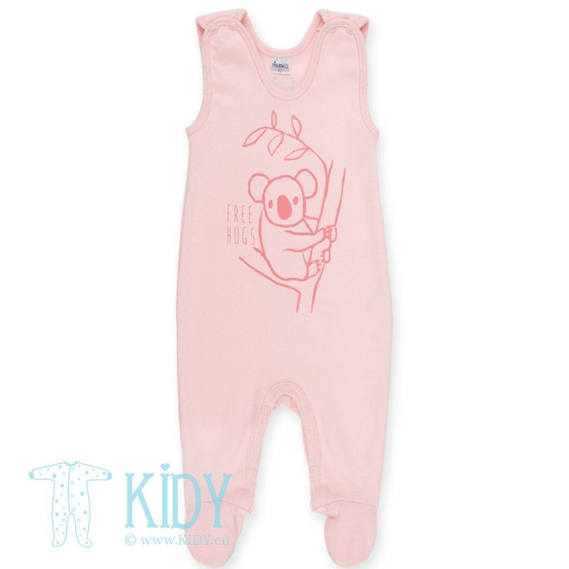 Pink footed HAPPY KIDS dungaree