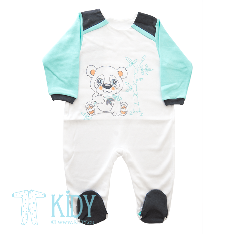 White sleepsuit PANDA (Ewa Collection)