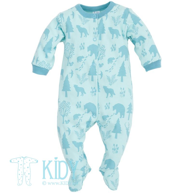 Blue sleepsuit WILD BOY