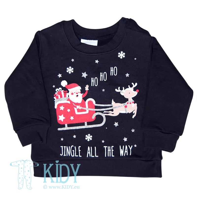 Navy sweatshirt CHRISTMAS