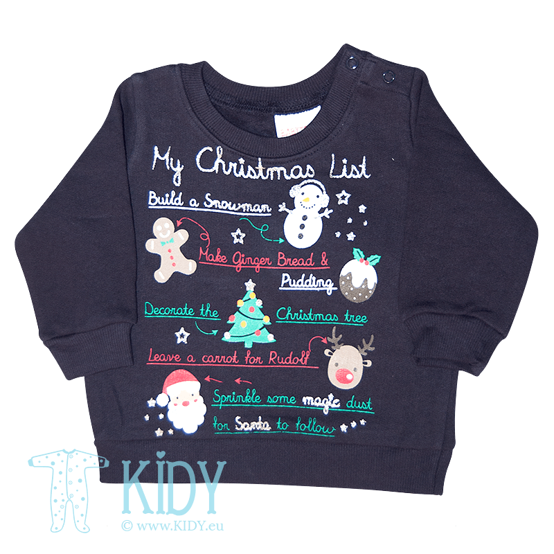 Navy sweatshirt CHRISTMAS