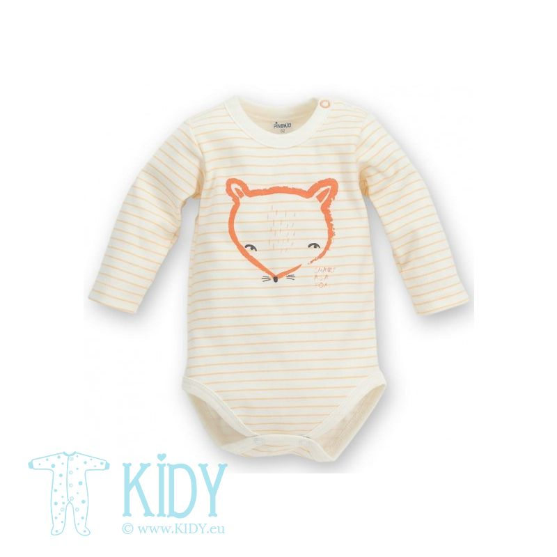 Orange SMART FOX bodysuit