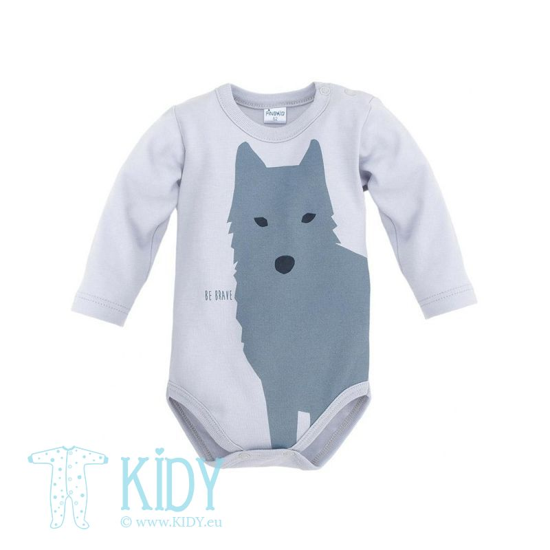 Grey WILD BOY bodysuit