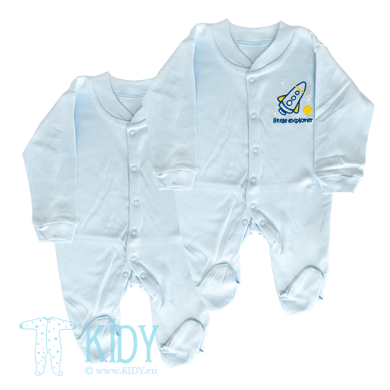 Set LITTLE EXPLORER: 2 sleepsuits (Nursery Time)