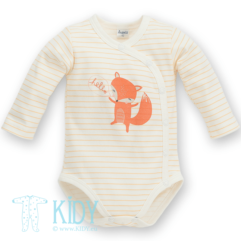 Orange kimono-bodysuit SMART FOX