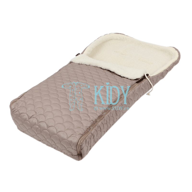 Brown winter sleeping bag UNIVERSAL (Flokati)