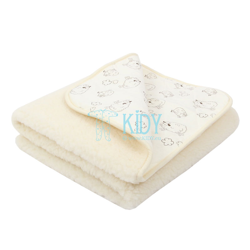 Ivory merino wool MEADOW blanket