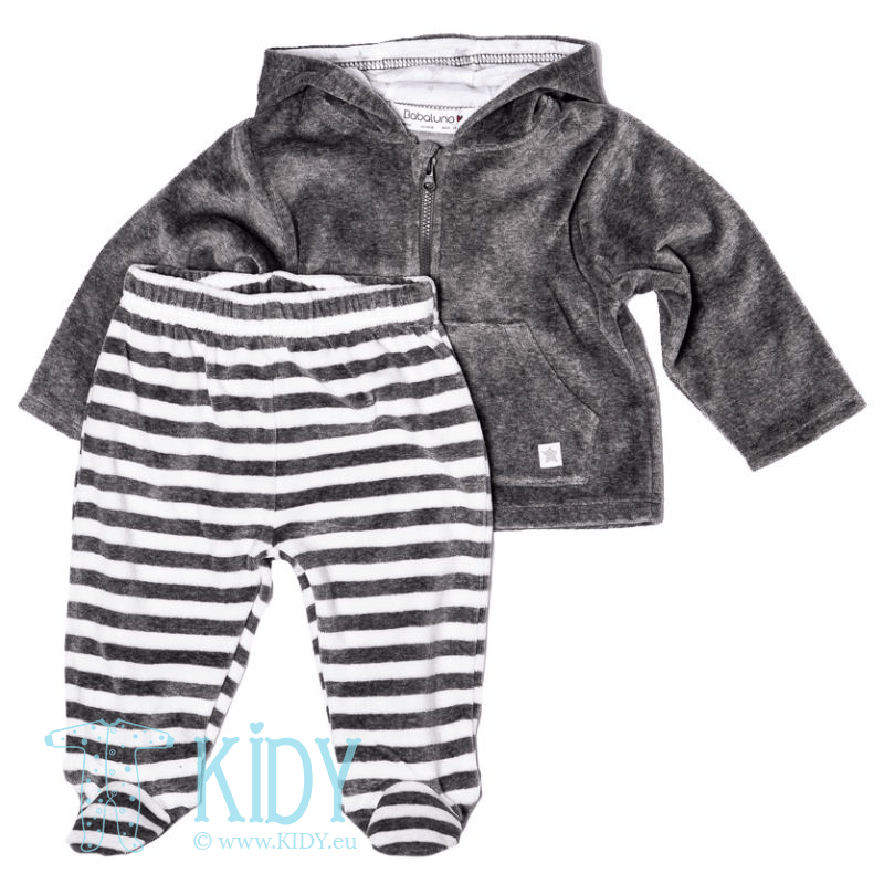 ZEBRA set: hoodie + footed pants