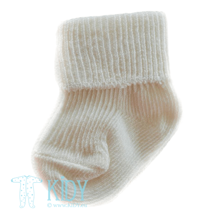 Cream socks (Soft Touch)