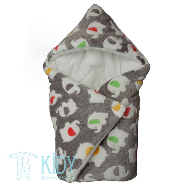 Серый конверт-одеяло JUMBO