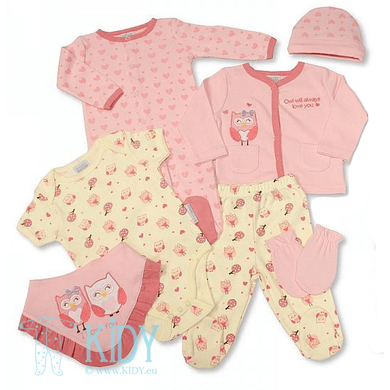 OWL newborn set: 7 pieces