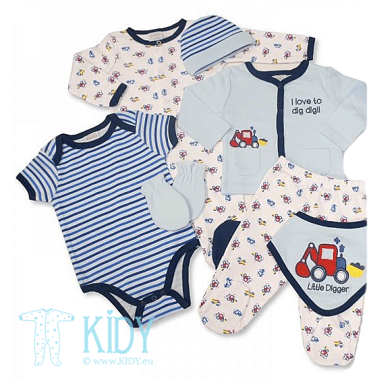 LITTLE DIGGER newborn set: 7 pieces