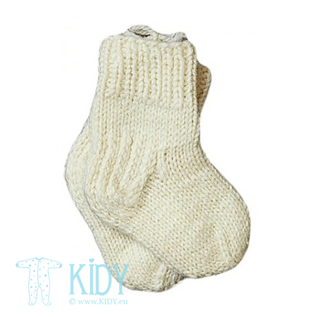 Knitted cream socks