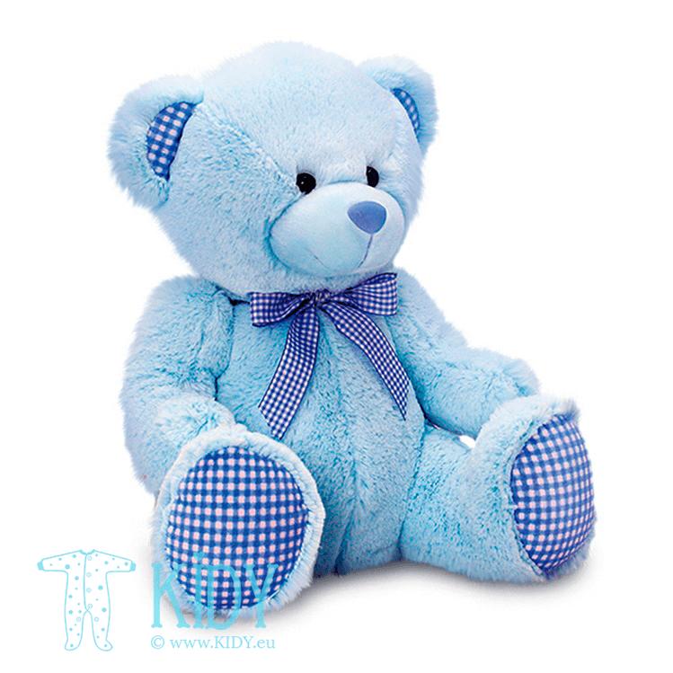 Blue nursery bear GINGHAM (Keel Toys)