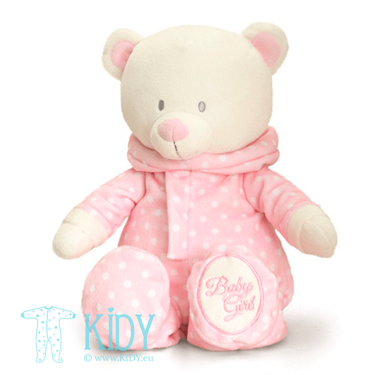 Pink baby bear ROMPERSUIT (Keel Toys)