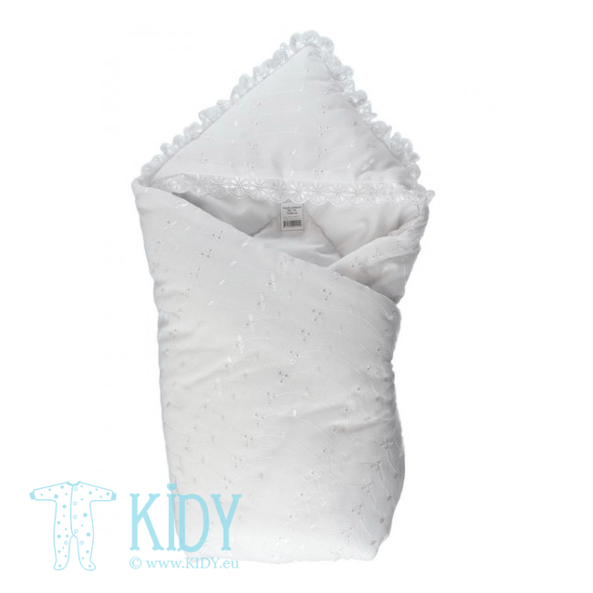 White swaddle blanket SIMPLE (Lorita)