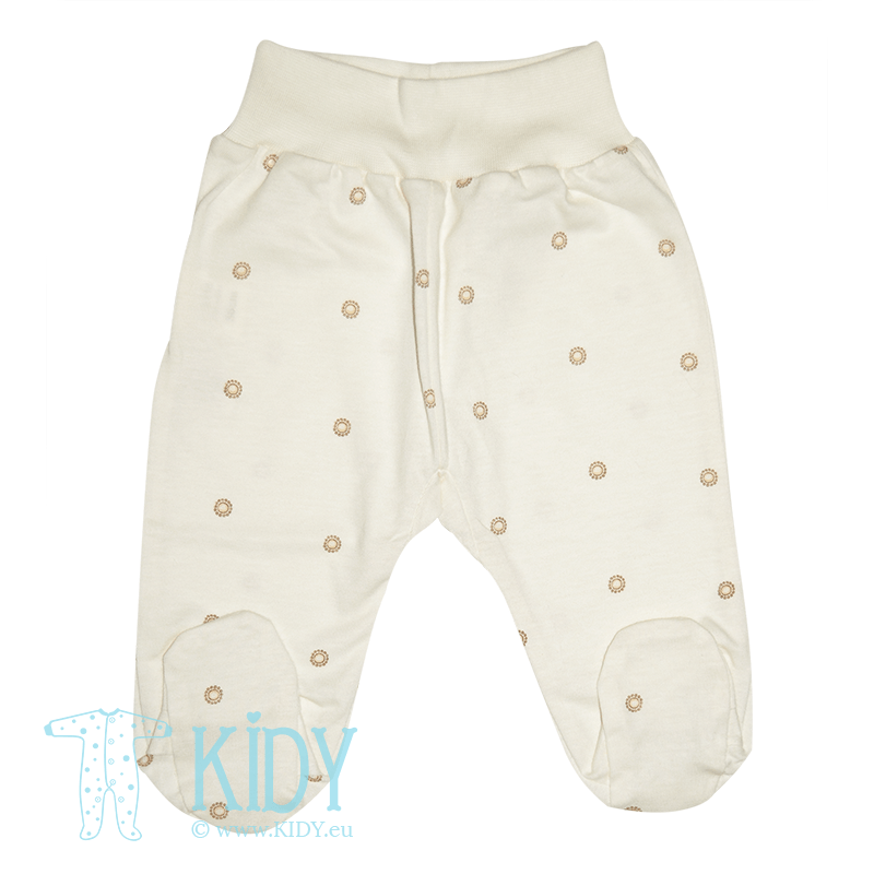 Cream footed pants MINI ZOO