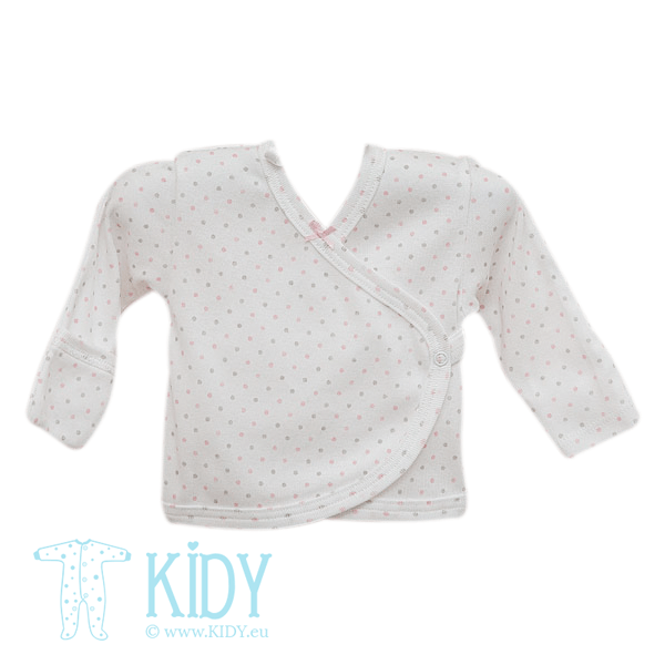 White easy shirt ANABELE with mitts