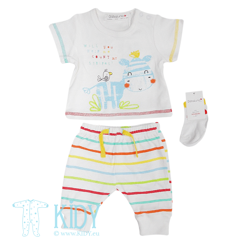 RAINBOW set: top + pants + socks (Babaluno)