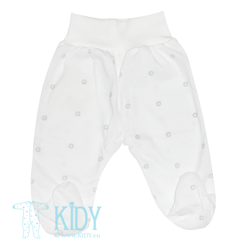 White MINI ZOO footed pants