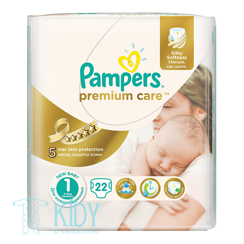PAMPERS Premium Care diapers, SP 1, 2-5 kg