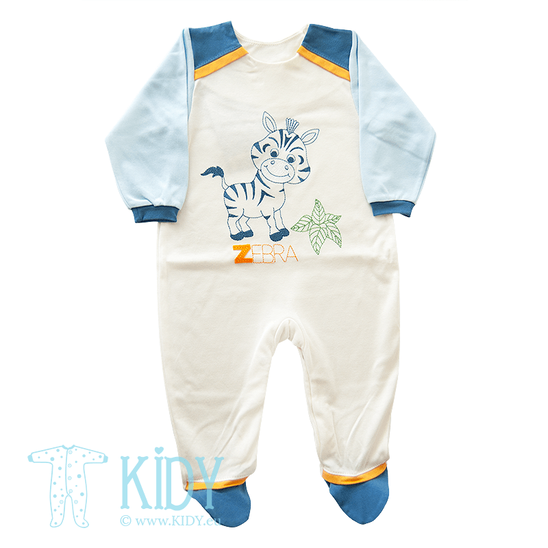 White sleepsuit ZEBRUS (Ewa Collection)