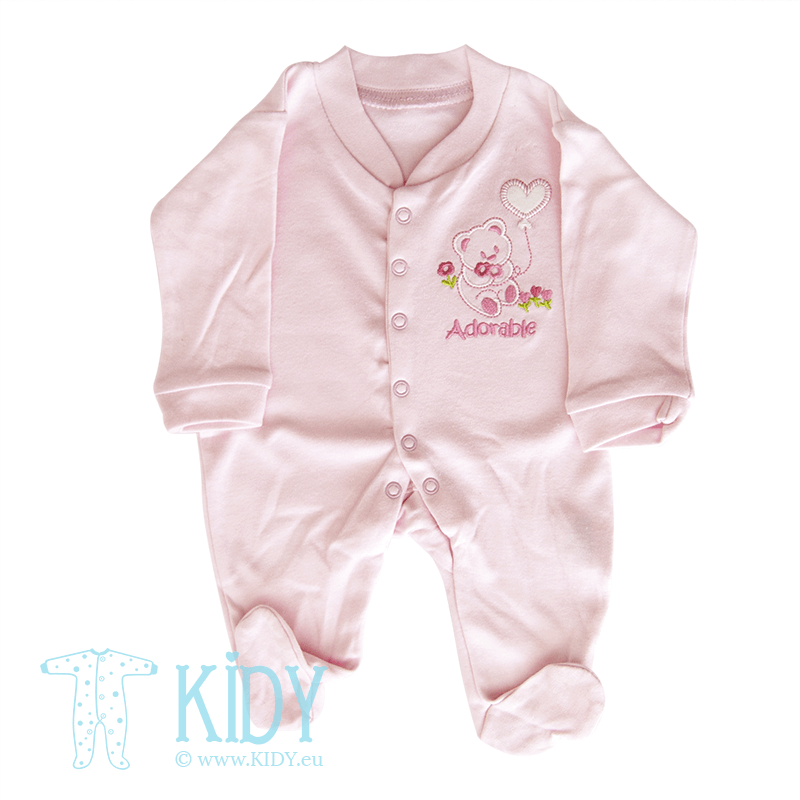 Pink sleepsuit ADORABLE BABY (Nursery Time)